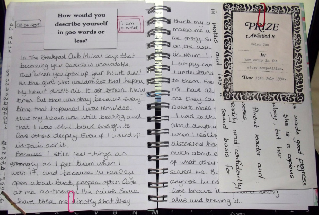journal page 500 words helen cox